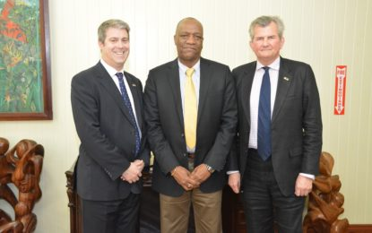 UK Security Sector Reform Consultant meets with Minister Harmon  -assured of Government's cooperation and support