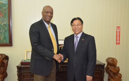 Minister Harmon meets with new Chinese Ambassador