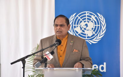Guyana, first country to sign and launch the UN MSDF (2017-2021)