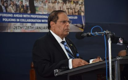 Remarks by the  Hon. Moses V. Nagamootoo, Prime Minister & Acting President  Of The Co-Operative Republic of Guyana  At the Opening Ceremony of the Police Officers Conference  Officers' Mess, Eve Leary  Thursday, January 26, 2017