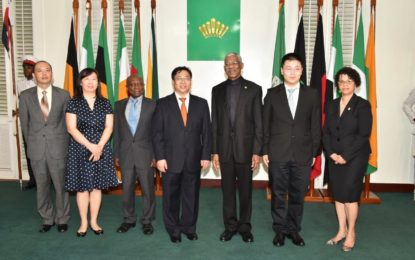 Guyana looks to China's cooperation in achieving 'green' state  -as new Chinese Ambassador is accredited to Guyana