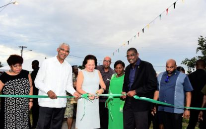 """""""Government won't leave Sophia behind""""  -President at commissioning ceremony for new road, water distribution system"""