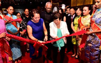 President lauds vibrant Chinese investment in Guyanese economy  -at Opening Ceremony of New Thriving Restaurant's Providence Branch