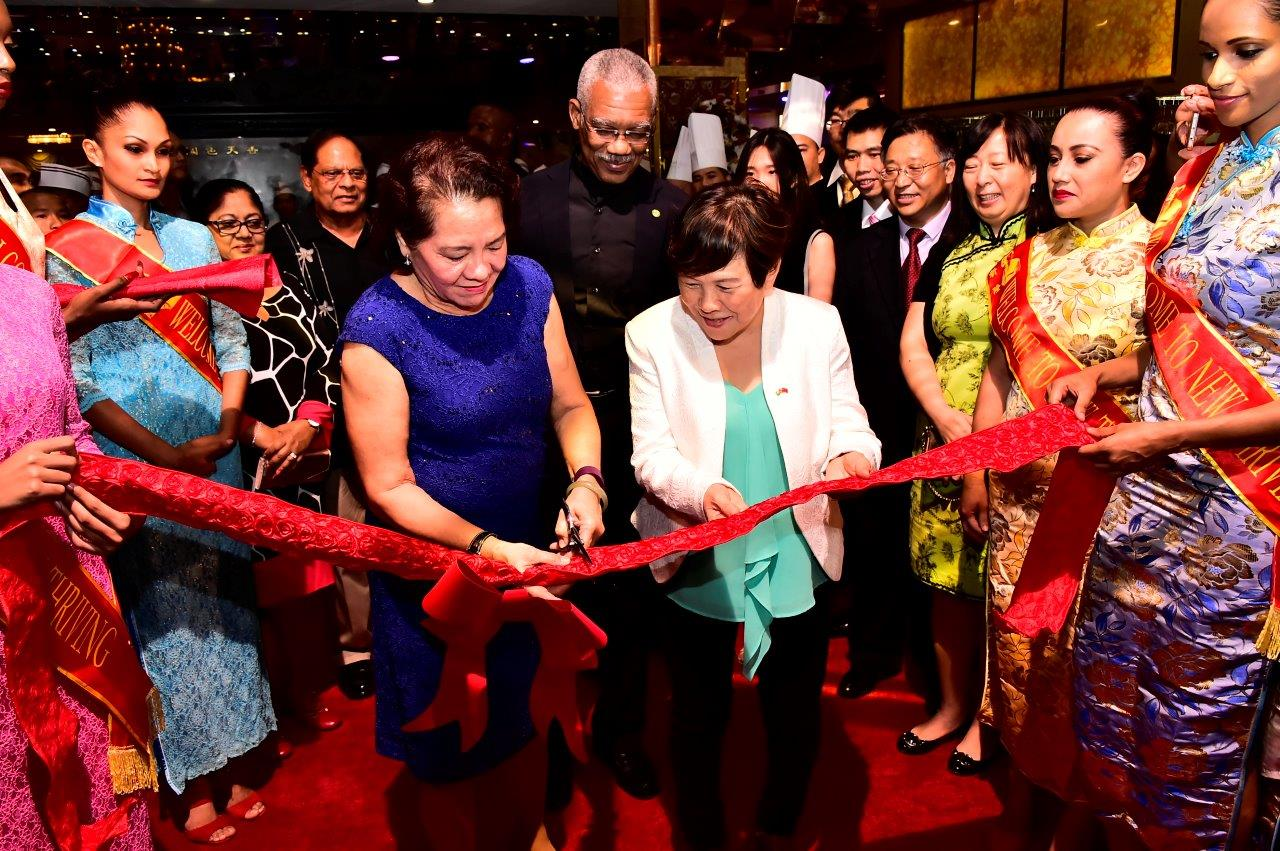 President Lauds Vibrant Chinese Investment In Guyanese Economy At Opening Ceremony Of New Thriving Restaurant S Providence Branch Dpi Guyana
