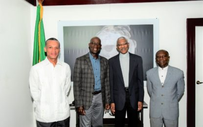President meets with Trinidadian counterpart ahead of CARICOM meeting