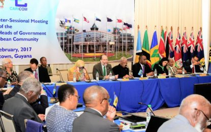 REMARKS   BY THE  SECRETARY-GENERAL  CARIBBEAN COMMUNITY (CARICOM) AMBASSADOR IRWIN LAROCQUE  AT THE   OPENING OF THE  TWENTY-eighTH INTER-SESSIONAL MEETING  OF THE  CONFERENCE OF HEADS OF GOVERNMENT  OF THE CARIBBEAN COMMUNITY     Georgetown, Guyana, FEBRUARY 16-17,  2017