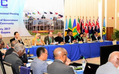 Territorial disputes, Arrest Warrant Treaty and Security on CARICOM's agenda for today