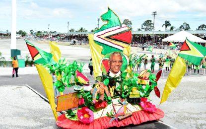 President enjoys Mashramani float parade  – says Guyana's status as a Republic is important part of nation's identity