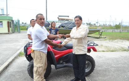 New ATV to support Orealla's logging project