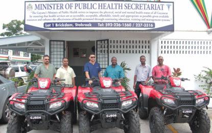 Three ATVs for HIV-AIDS, Malaria and TB Programmes