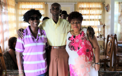 Minister Ally visits Lichfield Centenarian