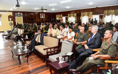 President touts total national defence for internal and external security-Urges GDF to remain vigilant
