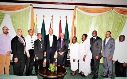 AME Church leaders pay courtesy call on President Granger