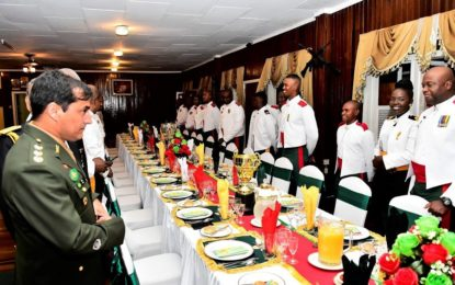 President attends GDF dinner for newly-commissioned officers