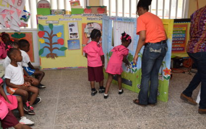 Nursery School pupils learn about climate change