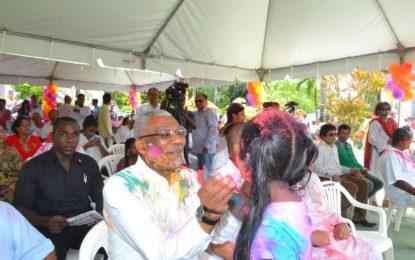 President Granger praises cultural inclusion as Guyana celebrates Holi