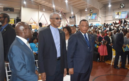 President Granger warmly received by Bahamians – attends tree-planting exercise at the Hugh W. Campbell Primary School