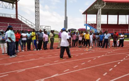Region 3 teachers participate in athletics workshop