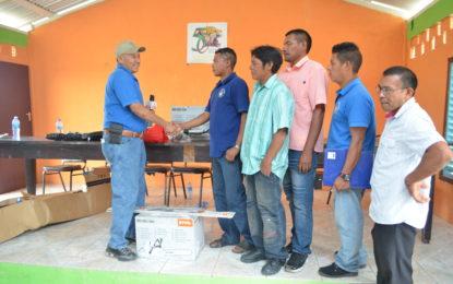 Four indigenous communities receive equipment