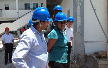 REHABILITATION OF ARTHUR CHUNG CONFERENCE CENTER RIGHT ON SCHEDULE
