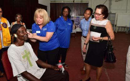 First Lady grateful for care provided by Starkey Hearing Foundation