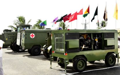 Chinese Army donates military equipment to Guyana Defence Force  -Will enhance GDF's infrastructural development role