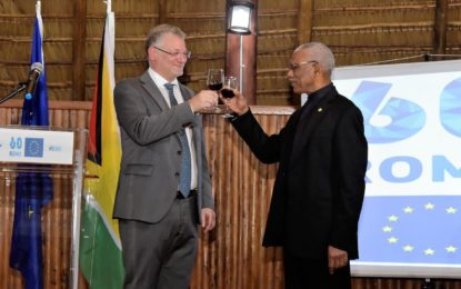 Caribbean, EU share similar goals for Peace and Economic Integration  -President Granger