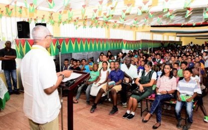 President's celebrates Guyana's heritage – during kite-distribution exercise at Parika and on the East Coast