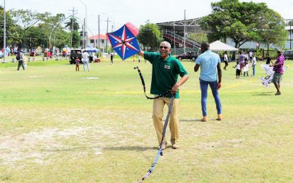Flying kites at Easter time is a particularly 'Guyanese' invention- President Granger