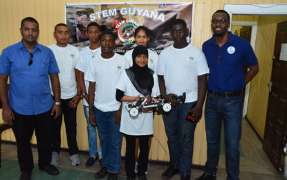 STEM Guyana team ready to participate in inaugural Robotic Olympics in the USA