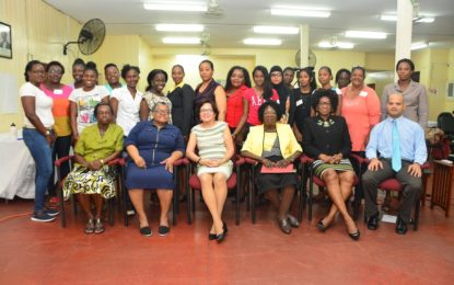 First Lady opens second certified 'Care for the Elderly' workshop  -urges young women to take advantage