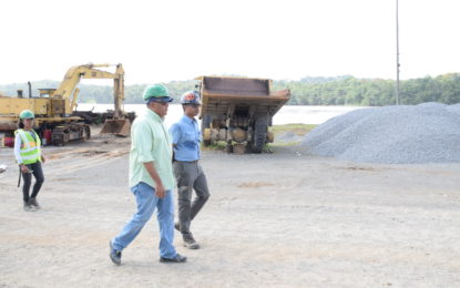 Minister Trotman visits St Mary's quarry – compliments operator for its work