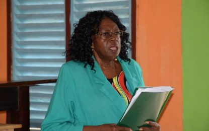 Region Four consultation on regional name, flag and emblem productive- Chairwoman, Genevieve Allen