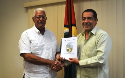 IICA hands over Rupununi Survey Working Document to Agri. Minister – to address irrigation in the savannahs