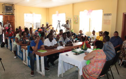 Residents in Victory Valley, share land titling other concerns with Minister of Social Protection