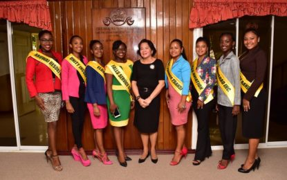 Bartica Regatta Delegates pay courtesy call on First Lady, Mrs. Sandra Granger