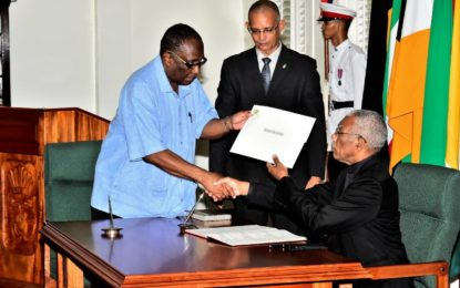 Patrick Yarde sworn-in as acting PSC Chairman