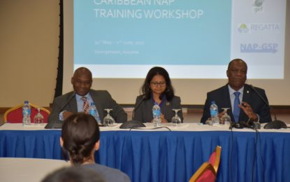 Climate mitigation and resilience efforts must begin at the community level  -Minister Harmon says at Regional Capacity Building Workshop National Adaptation Plan (NAP)