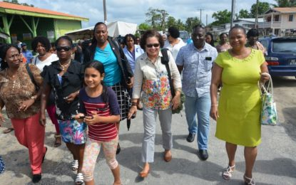 'Help Guyana to achieve its goal of becoming a 'green' state'  -First Lady, urges women at Region Two Regional Women's Conference