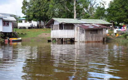 Flood water recedes in Region Eight