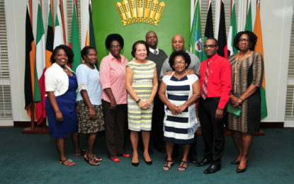 Tabernacle Network Ministries pays courtesy call on First Lady, Mrs. Sandra Granger