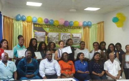 Graduation of 23 Doctors and Nurses from several Region Four (Demerara/Mahaica) Hospitals and Health Centres