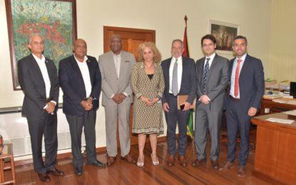 Ministers Harmon, Trotman host exploratory meeting with EITI-IDB team
