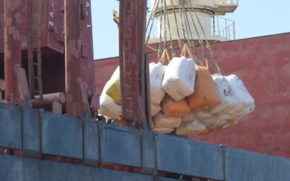 Guyana-Mexico rice export deal sets sail – as first shipment loaded