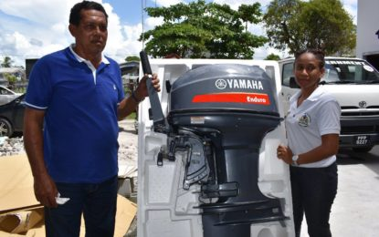 Outboard engines among equipment handed over to Indigenous Communities