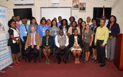 Newly appointed DEOs benefitting from induction workshop