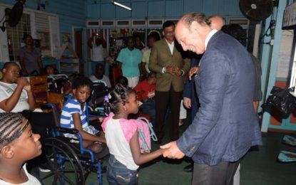 Spanish Dignitaries visit Ptolemy Reid Rehab Centre