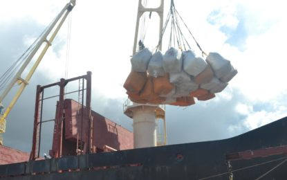First shipment from GY $3.8B paddy contract leaves Guyana's shores