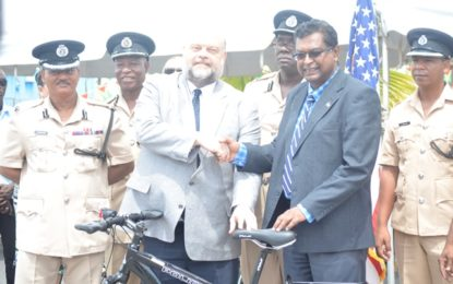 US donates 200 bicycles to GPF and City Constabulary