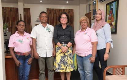 First Lady meets with Guyana Medical Relief, Guyana Cancer Foundation officials